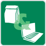 Green brownbag/webinar icon
