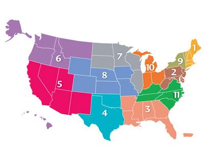 UNOS Region Map