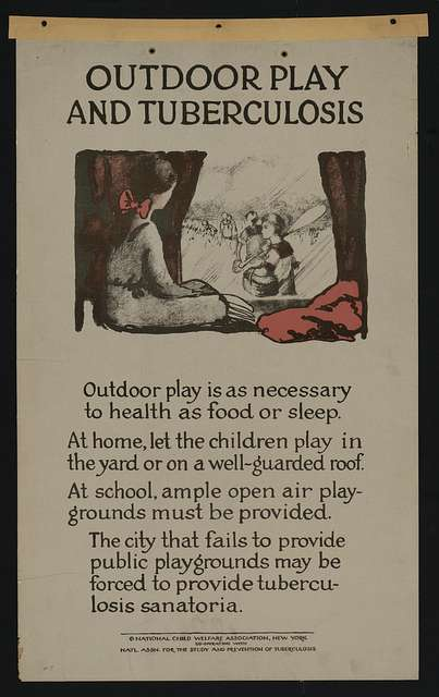 Outdoor Play and Tuberculosis print from 1922